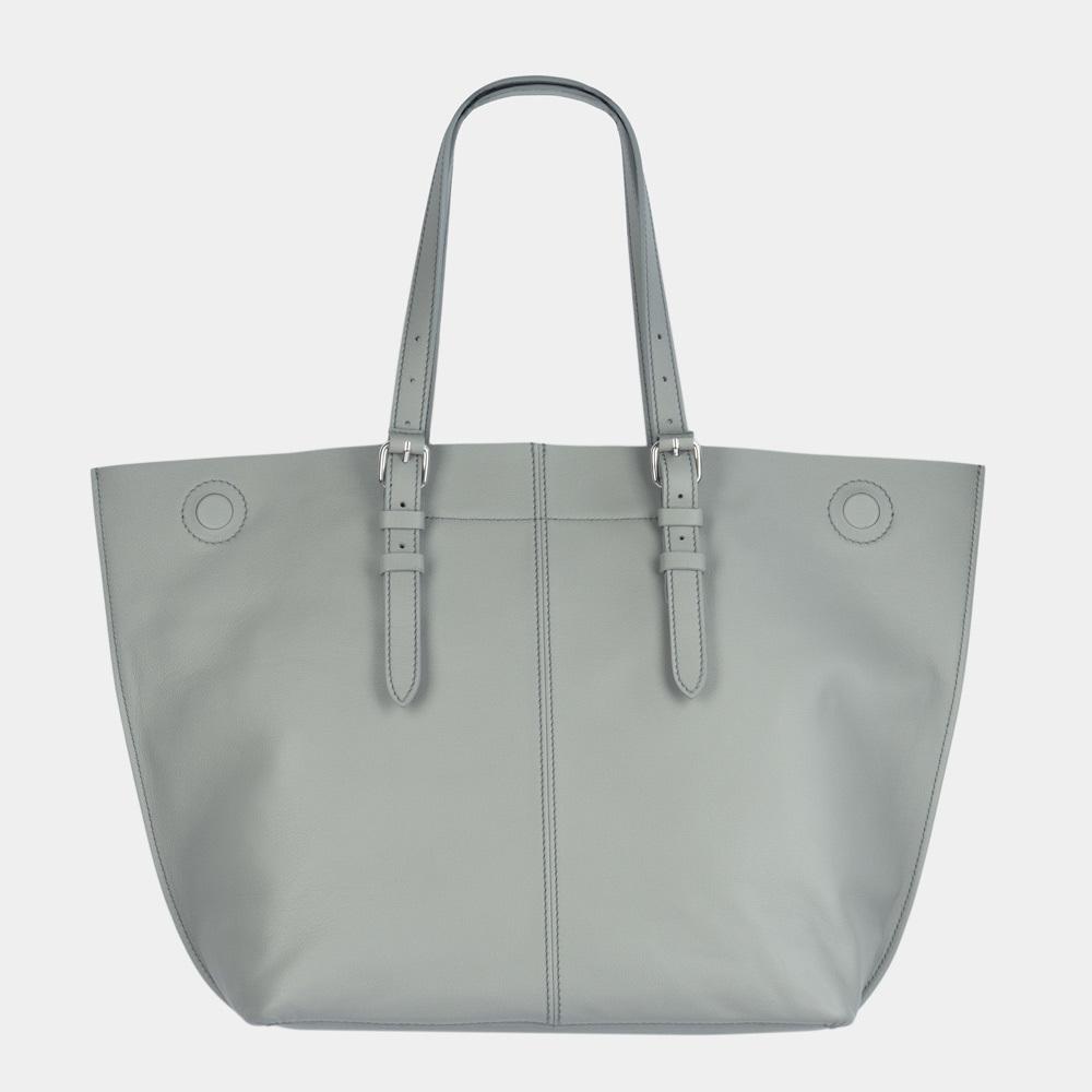 Женская сумка Shopper Vintage Easy из натуральной кожи теленка, серого цвета