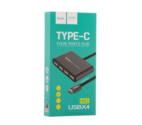 Купить переходник Hoco HB3 Type-C на USB
