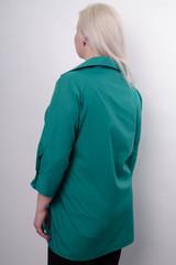 Дакота. Оригінальна жіноча сорочка великих розмірів. Бірюза.