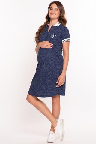 Платье для беременных 10146 темно-синий
