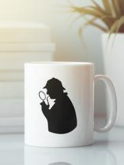 Кружка с рисунком Шерлок (Sherlock, Бенедикт Камбербэтч) белая 003