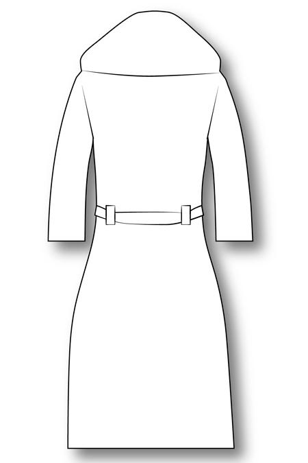 Выкройка халата с капюшоном на молнии на заказ