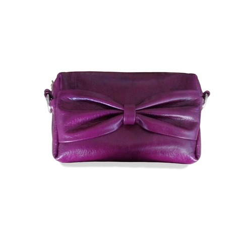 Кэнди-сумочка на пояс с 2 ремнями пурпурная