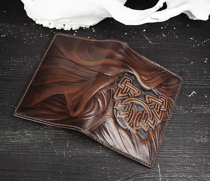 BC206-2 Крутой кожаный блокнот «Борода» ручной работы (А6) фото 04