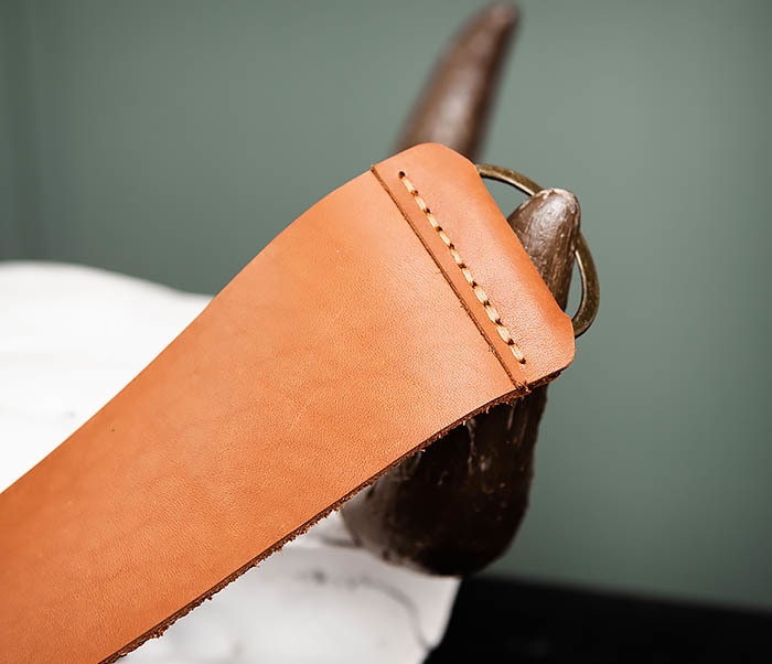 RAZ456-2 Ремень для правки опасной бритвы ручной работы фото 03