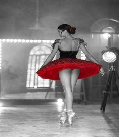 Алмазная Мозаика 30x40 Балерина в красной пачке