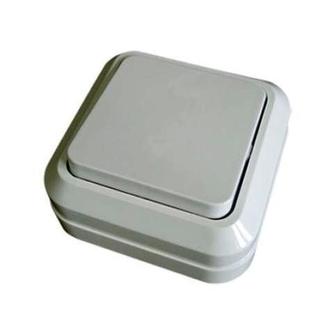 Выключатель 1 клав.накладной Ладога TDM белый