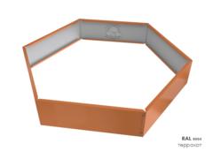 Клумба многоугольная оцинкованная 1 ярус RAL 8004 Терракот