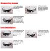 Очки солнцезащитные XQ546, (белый глянец / зеркальные revo) +3 доп. линзы