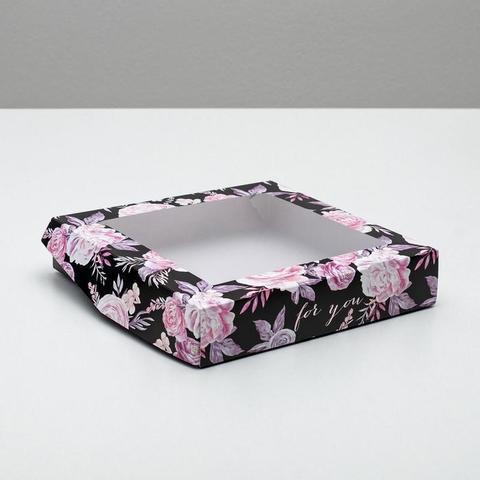 Коробка складная «Нежность», 20 × 20 × 4 см