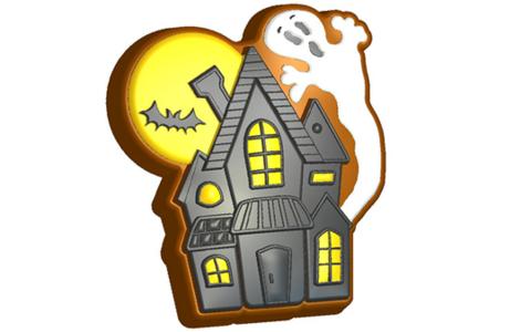 Дом Хеллоуин. Форма для мыла пластиковая