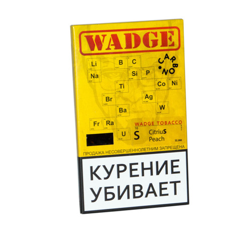 Табак WADGE CARBON 100gr Citrus Peach