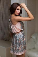 Шелковое платье мини 15084 Mia-Mia