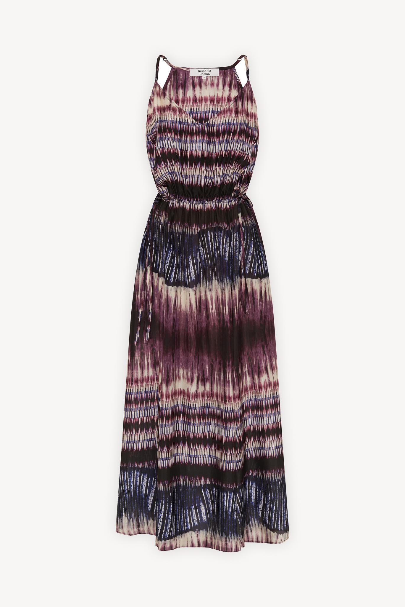 SAELLE - Шелковое длинное платье с принтом