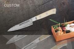 SCU-0011 Нож кухонный стальной овощной Samura by Custom