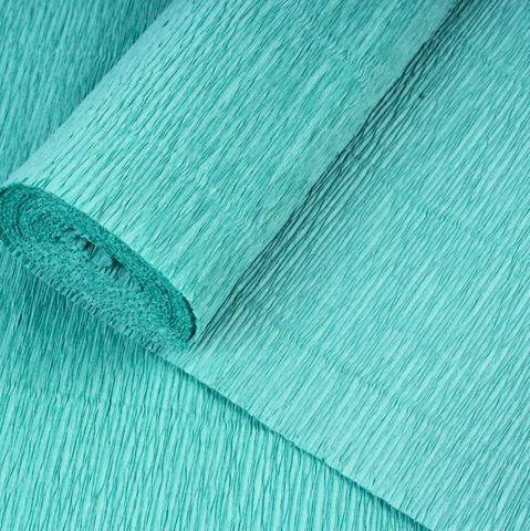 Гофрированная бумага однотонная. Цвет 17E/4 зеленый тиффани, 180 г