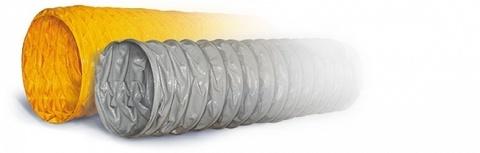 ПВХ Tex PVC - F 300 d80 1м воздуховод на основе полиэфирной ткани, пропитанной