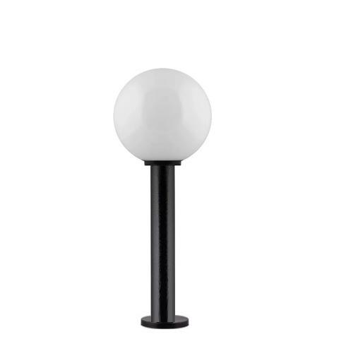Садово-парковый светильник шар молочный D250mm с пластиковой опорой H600mm