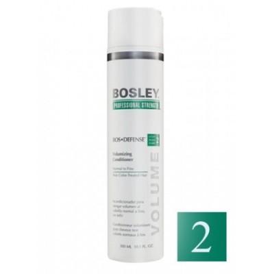 Bosley PRO Defense Зеленая линия: Кондиционер для нормальных/тонких неокрашенных волос (Normal to Fine NonColor-Treated), 300мл/1л