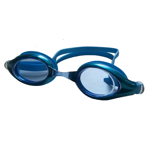 Очки для плавания Diapolo синие с прозрачными линзами