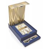 Набор Waterman Carene Black GT Шариковая ручка + открытки и конверты Mblue (1937585)