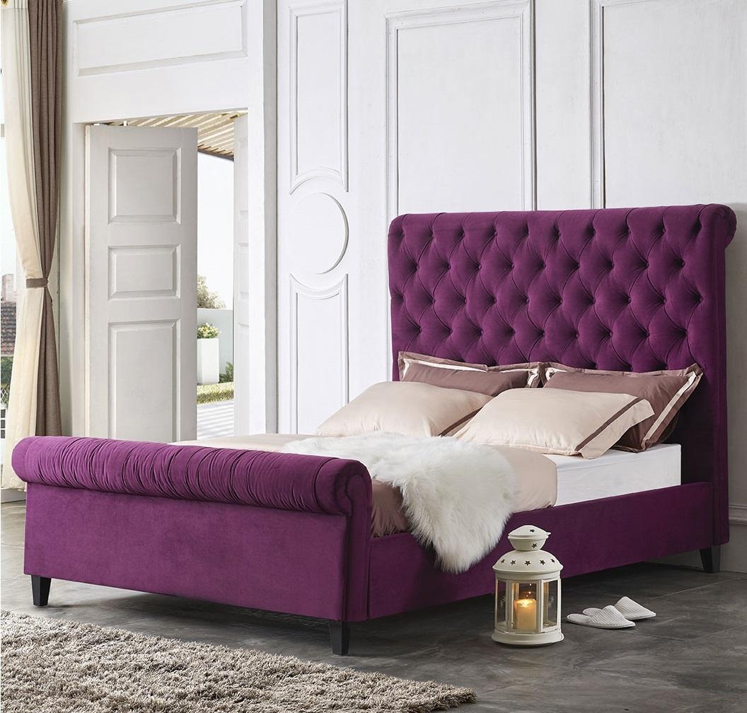 Кровать ESF IR-0822 пурпурная
