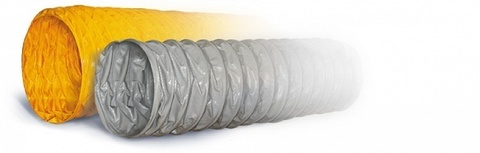 ПВХ Tex PVC - F 300 d100 1м воздуховод на основе полиэфирной ткани, пропитанной