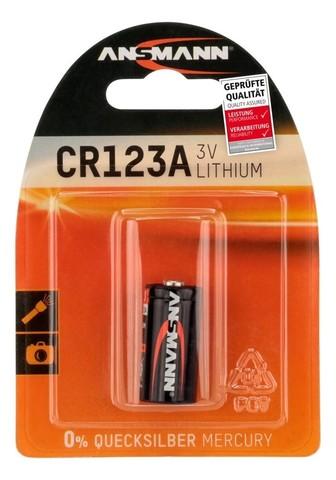 Батарейка литиевая CR123A ANSMANN 3V