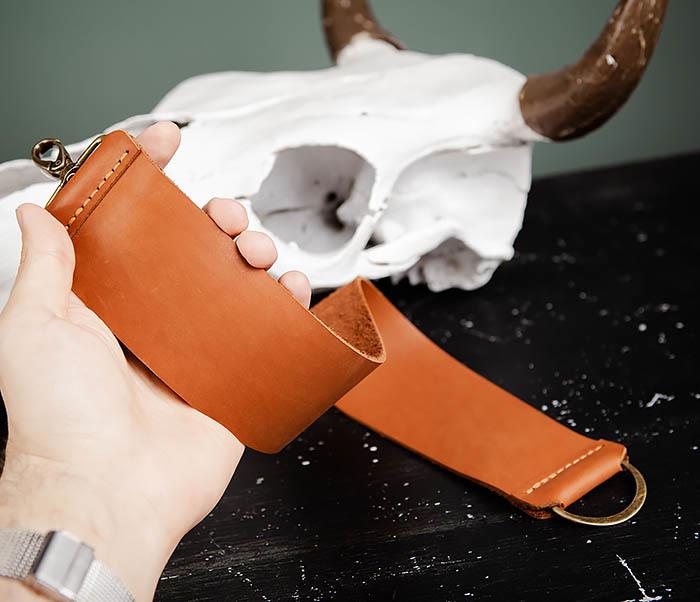 RAZ456-2 Ремень для правки опасной бритвы ручной работы фото 06