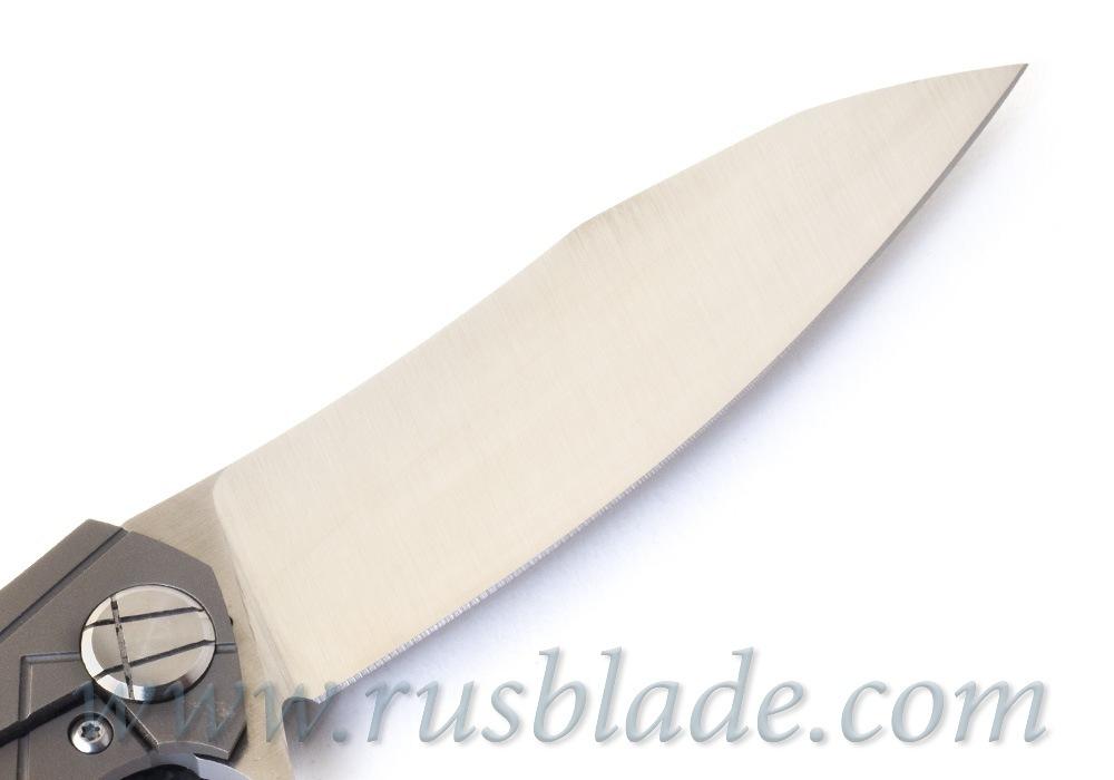 CKF Asymmetric midi folder (Alexey Konygin design, S90V, titanium, CF) - фотография