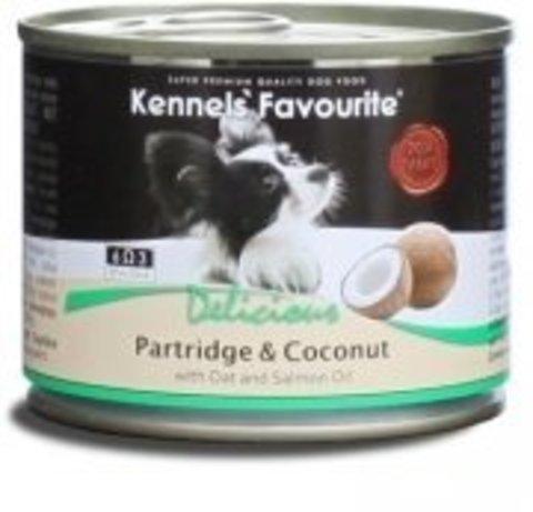 Kennels` Favourite Partridge & Coconut Консервы для собак. Куропатка с кокосом 200 г.
