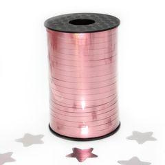 Лента (0,5 см*250 м) Матовый розовый, Металлик, 1 шт.
