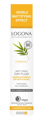 LOGONA Матирующий финишный дневной флюид с Био-Бамбуком и Био-Гамамелисом
