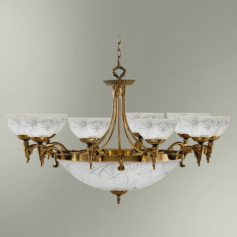 Люстра 10-ти рожковая с центральным плафоном на 4 лампы 18255/10+4 БИРМИНГЕМ