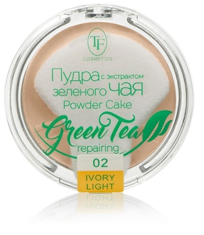TF Пудра компактная с экстрактом зеленого чая тон 02 слоновая кость ТР-16