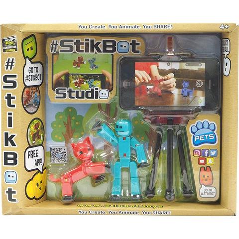 Набор Stikbot студия с питомцем