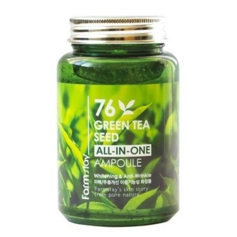 Сыворотка с экстрактом семян зеленого чая FarmStay 76 Green Tea All-In-One Ampoule 250 мл