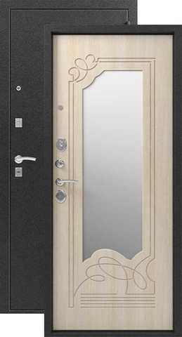 Дверь входная Сибирь S-4, 2 замка, 1,5 мм  металл, (чёрный муар+дуб седой)