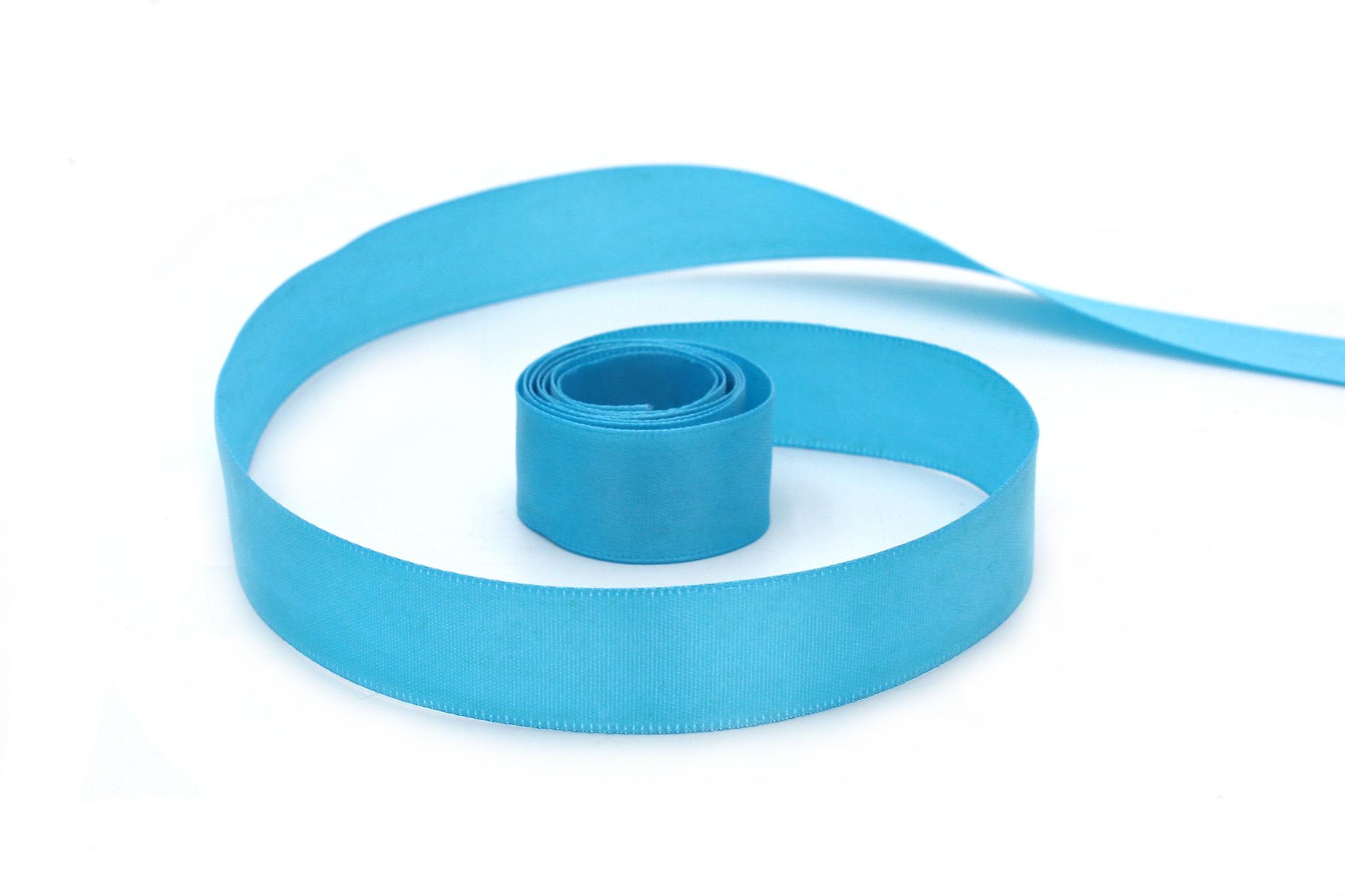 Лента атласная,2 см, голубой