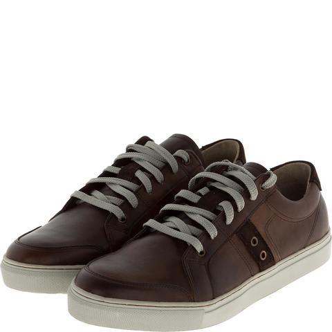547308 полуботинки мужские коричневые (кеды). КупиРазмер — обувь больших размеров марки Делфино