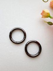 Карабин-кольцо темный никель, d 25 мм