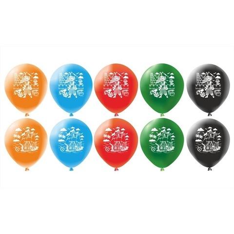 Воздушные шары с гелием для пиратской вечеринки.