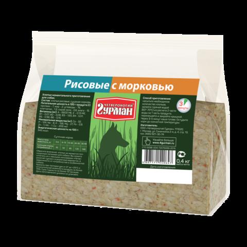 Четвероногий Гурман Каша для собак рисовая с морковью (пакет)