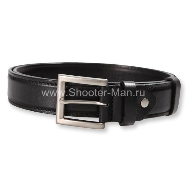 Ремень кожаный, пистолетный усиленный до регулировочных отверстий ( 40 мм )