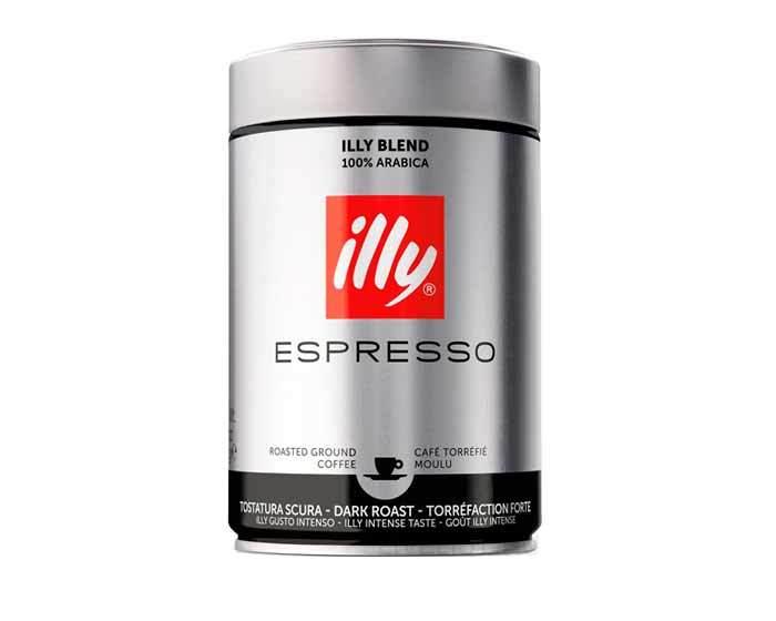 Кофе молотый Illy Caffe Espresso Dark, 250 г