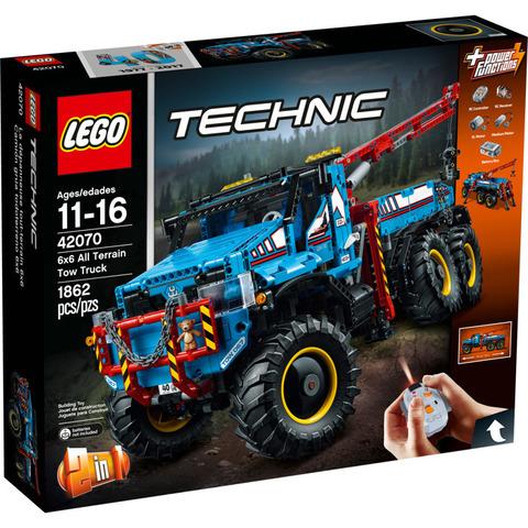 LEGO Technic: Аварийный внедорожник 6х6 42070 — 6x6 All Terrain Tow Truck — Лего Техник