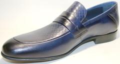 Мужские кожаные туфли лоферы Luciano Bellini Blue