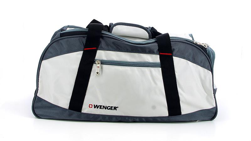 Сумка спортивная Wenger Mini Soft Duffle, серая, 52х25х30 см