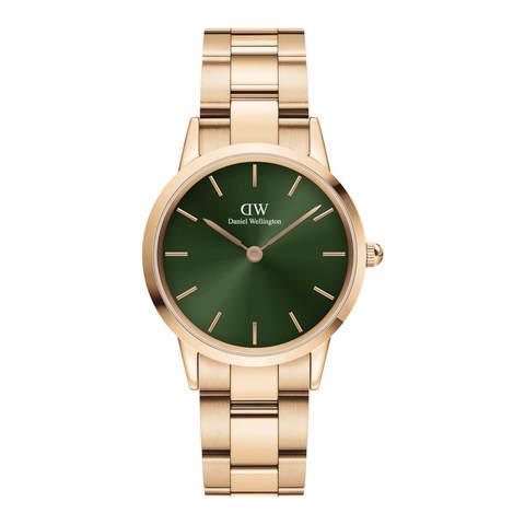 Купить Женские часы Daniel Wellington Iconic Link Emerald Green 32 мм DW00100420 по доступной цене