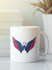 Кружка с рисунком  НХЛ Вашингтон Кэпиталз (NHL Washington Capitals) белая 001